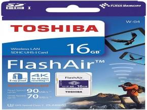 Toshiba FlashAir W-04 16 GB SDHC Class 10 4k Memory Card