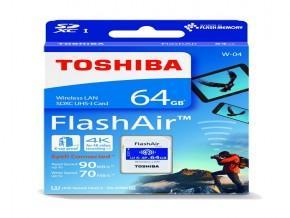 Toshiba FlashAir W-04 64 GB SDXC Class 10 Memory Card