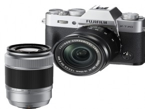 Fujifilm X-T20 Mirrorless Camera with XC 16-50mm / XC 50-230mm Lens Silver /Ki